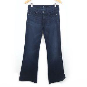 """<7FAM> Dojo Jeans Wide Leg Dark Wash 30"""" Inseam"""